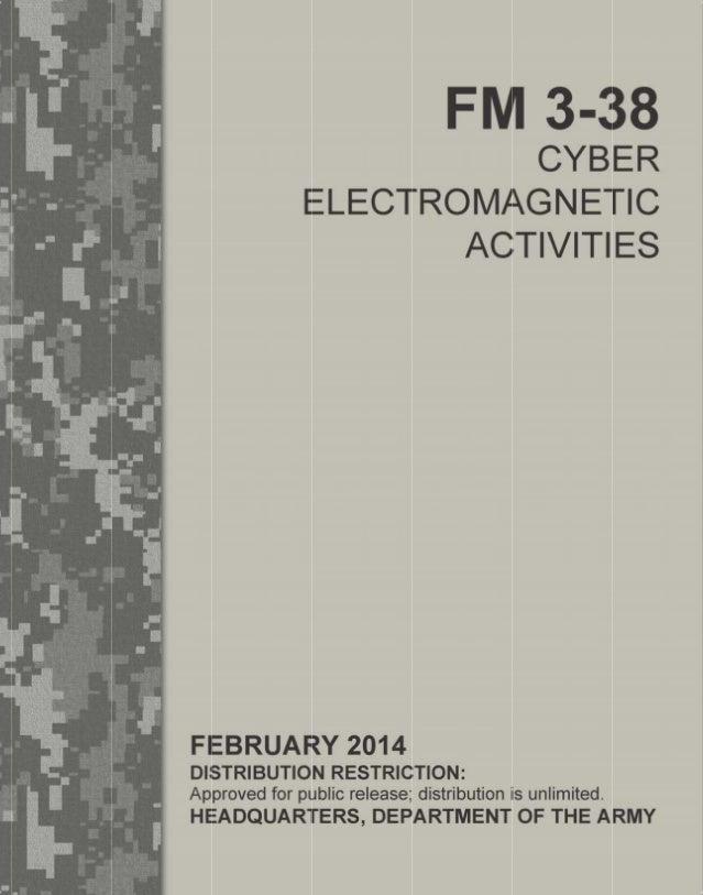 us army cyber warfare field manual fm 3 38 cems rh slideshare net army field guide leadership army field guide pdf