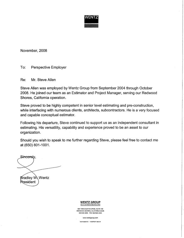Immigration Letter Of Recommendation. Immigration Recommendation