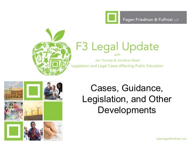 1 Cases, Guidance, Legislation, and Other Developments