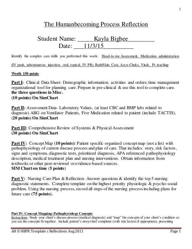 nursing care plan paper example