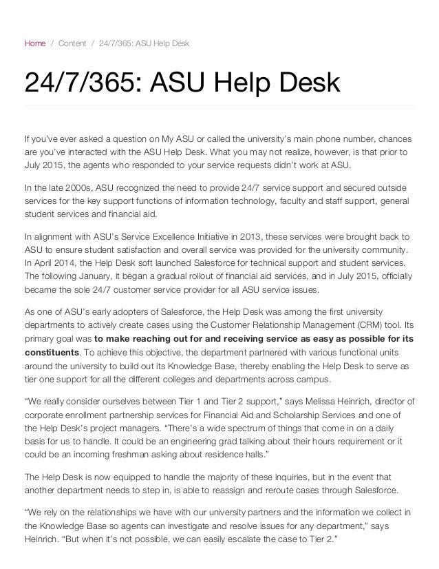 Delightful Home / Content / 24/7/365: ASU Help Desk 24/7 ...