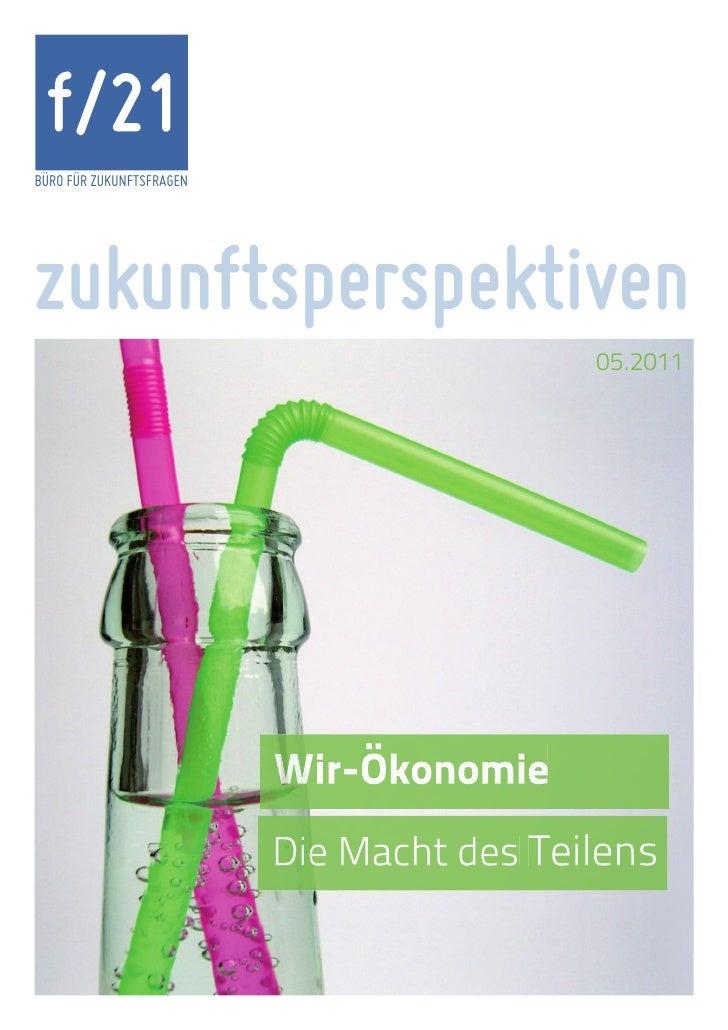 f/21BÜRO FÜR ZUKUNFTSFRAGENzukunftsperspektiven                          05.2011