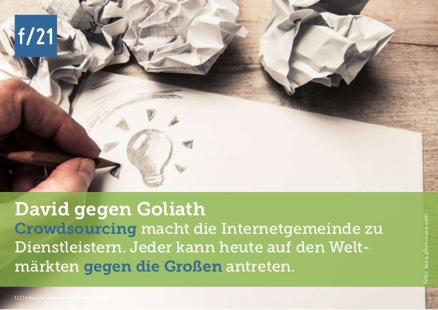 f/21 ▪ Büro für Zukunftsfragen   www.f-21.de f/21 f/21 ▪ Büro für Zukunftsfragen   www.f-21.de f/21 David gegen Goliath Cr...