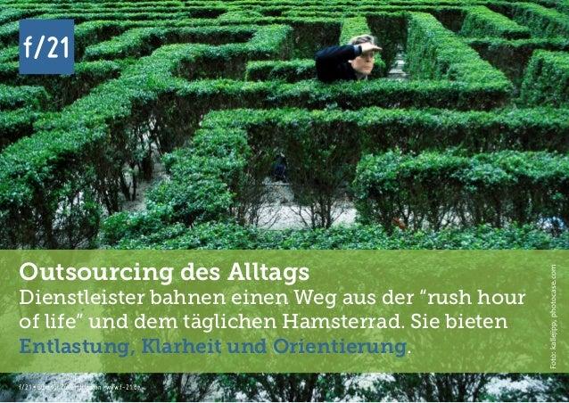 f/21 ▪ Büro für Zukunftsfragen   www.f-21.de f/21 f/21 ▪ Büro für Zukunftsfragen   www.f-21.de f/21 Outsourcing des Alltag...