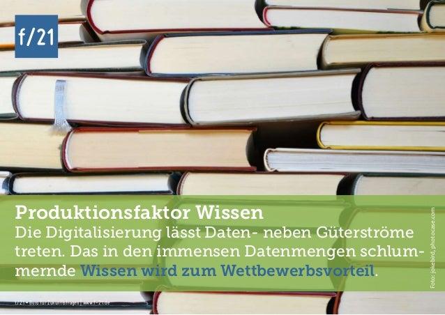 f/21 ▪ Büro für Zukunftsfragen   www.f-21.de f/21 f/21 ▪ Büro für Zukunftsfragen   www.f-21.de f/21 Produktionsfaktor Wiss...