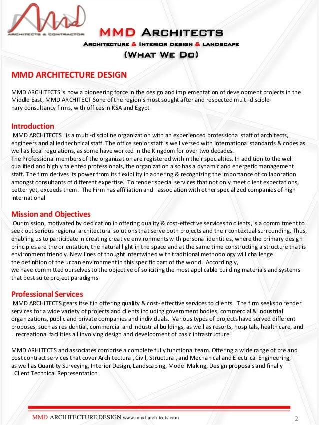 MMD Architects Portfolio