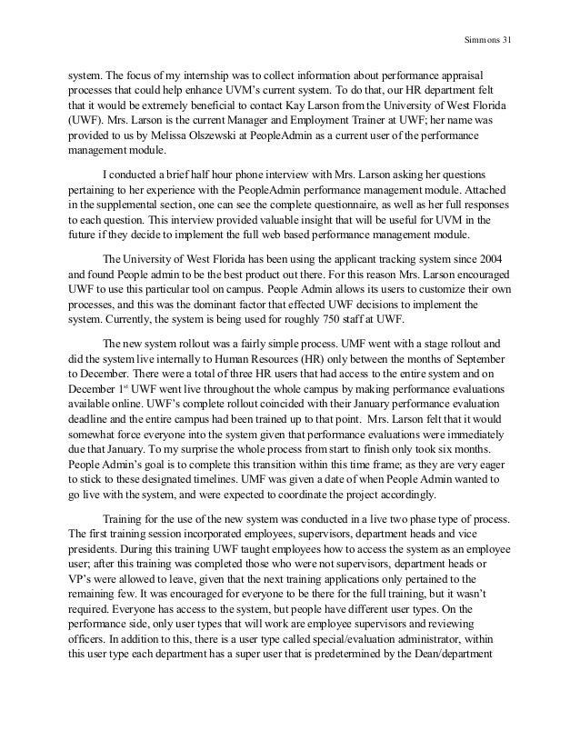 Essay on internship program