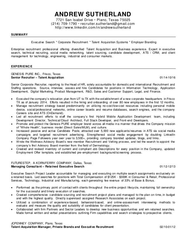 recruiter sutherland resume 1