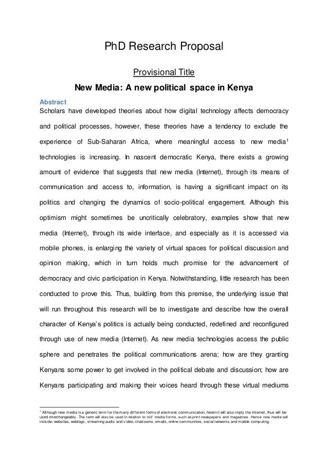 Phd thesis proposal abstract custom science project