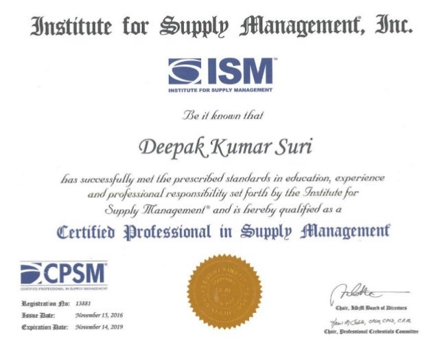 cpsm certificate slideshare upcoming