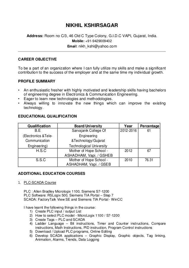 Resume - Nikhil K