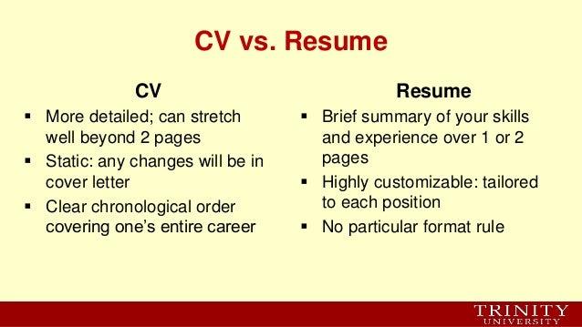 resume brief summary