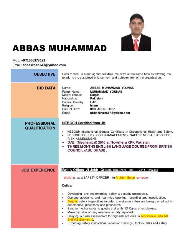 Abbas Muhammad Younas Updated SAFETY CV 1