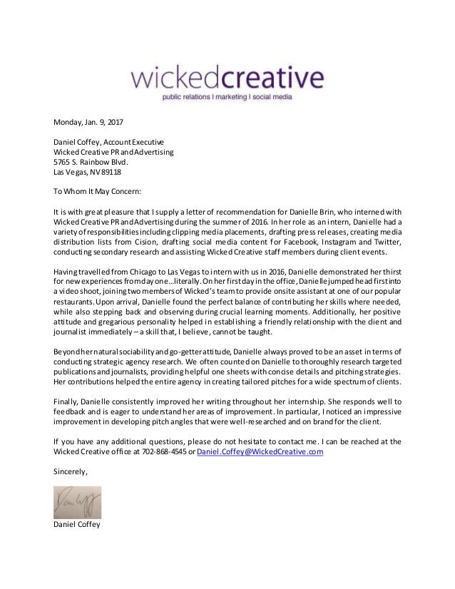Wicked creative letter of recommendation wicked creative letter of recommendation mondayjan 9 2017 daniel coffeyaccountexecutive wickedcreative prandadvertising 5765 s spiritdancerdesigns Images