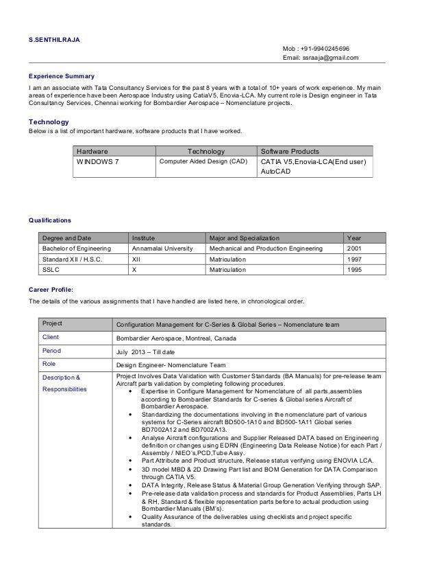 Senthilraja S Resume
