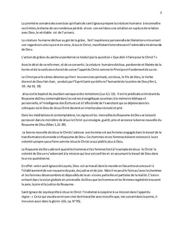 L'actualité des Exercices Spirituels de Saint Ignace de Loyola