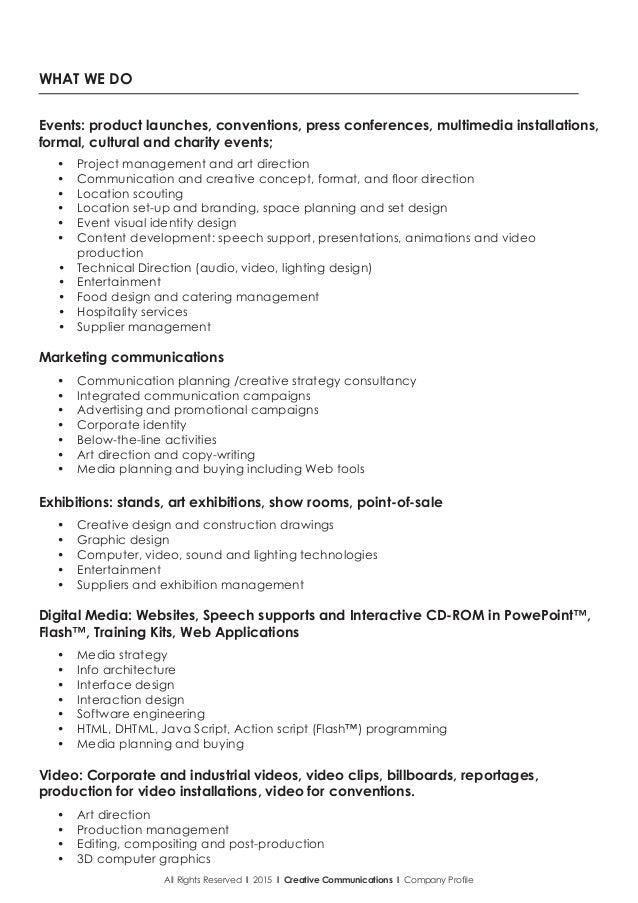 ... Company Profile; 4.  Company Profile Format