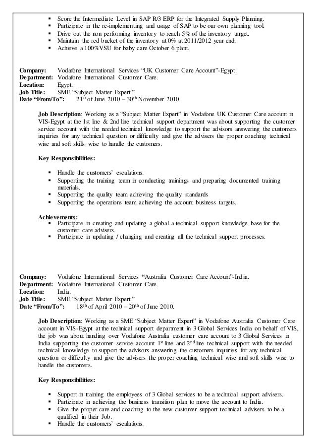 28 supply planner resume customer service manager