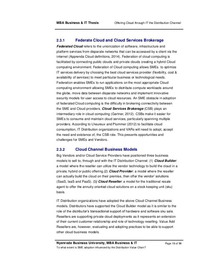 Dissertation proposal cloud computing