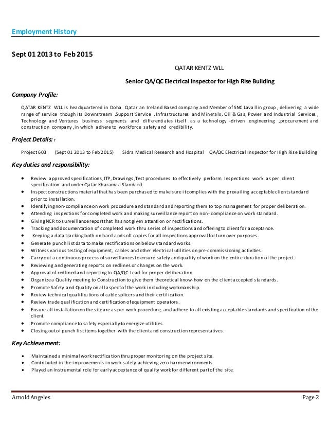 resume arnold angeles