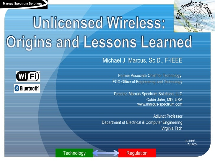 www.marcus-spectrum.com             Michael J. Marcus, Sc.D., F-IEEE                     Former Associate Chief for Techno...
