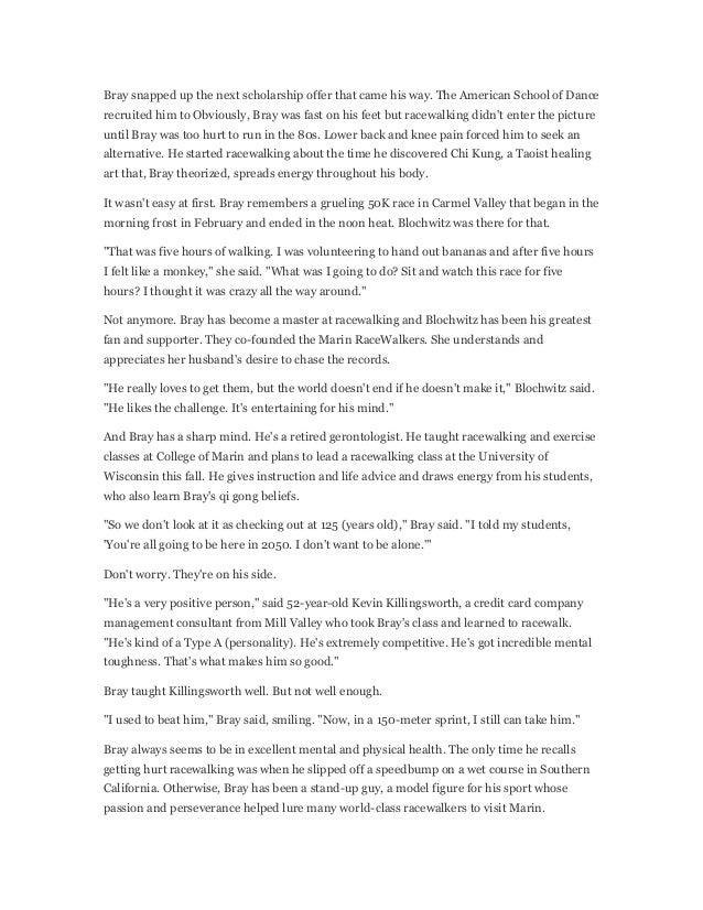 Bray Racewalking Media Interviews