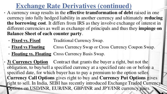 Forex derivatives in india