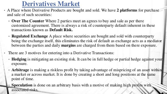 Derivatives Markets In Interest Rate And Exchange Rates And Their Ut
