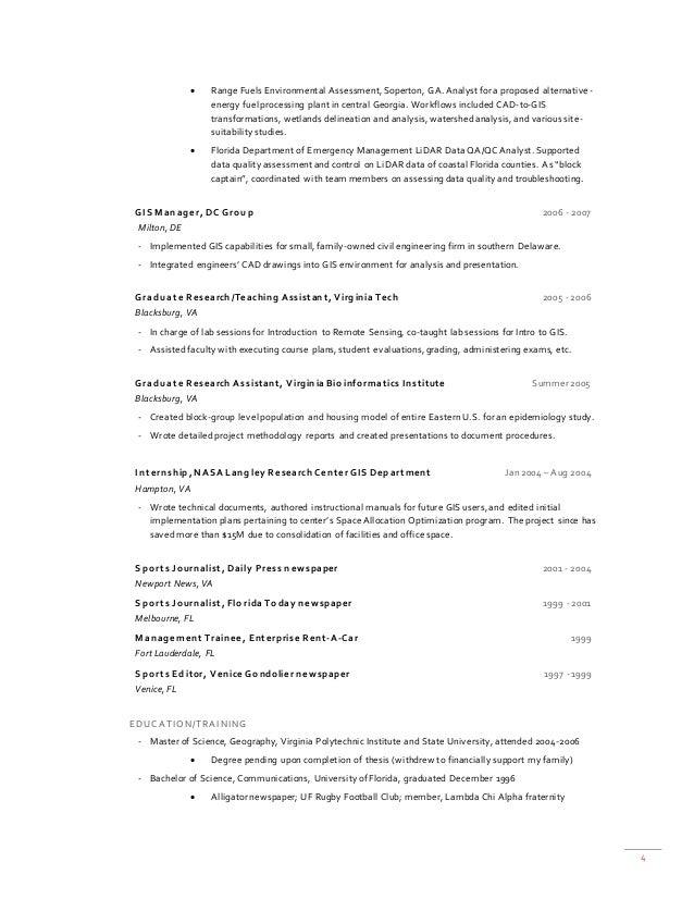 4  Range Fuels Environmental Assessment, Soperton, GA. Analyst for a proposed alternative- energy fuel processing plant i...