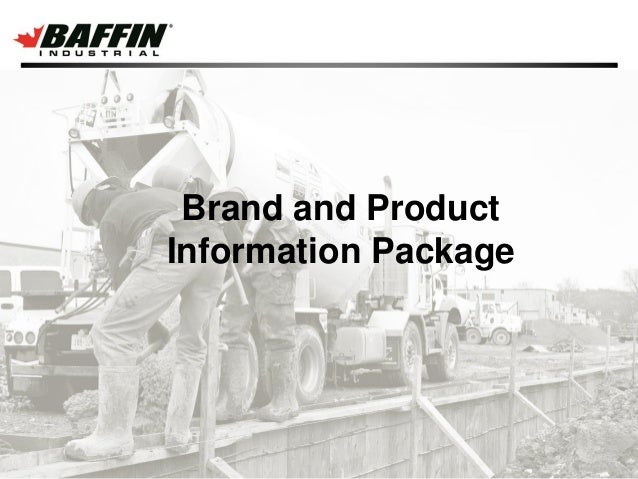 Brand and Product Information Package