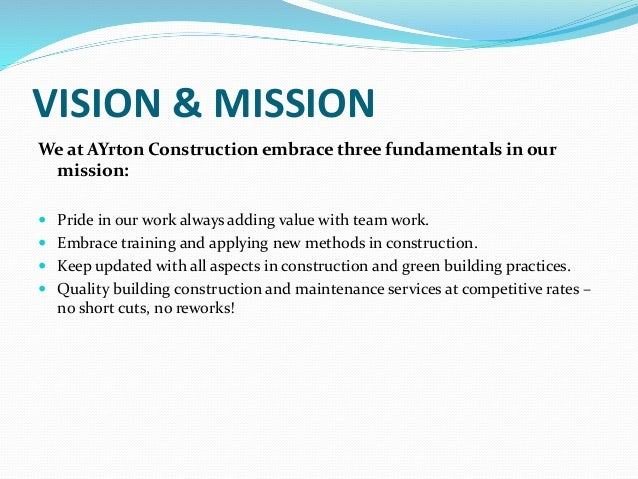 company profile of construction company pdf