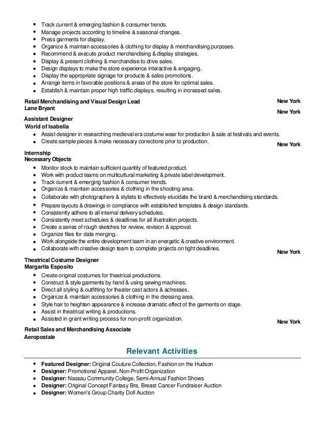 garment merchandiser resume april onthemarch co