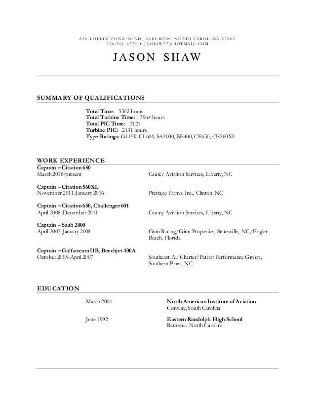 Jason Shaw resume 1