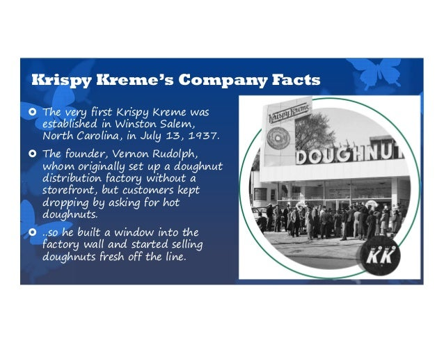 krispy kreme case number 1 This case considers the sudden and very large drop in the market value of equity for krispy kreme doughnuts, inc, associated with a series of.