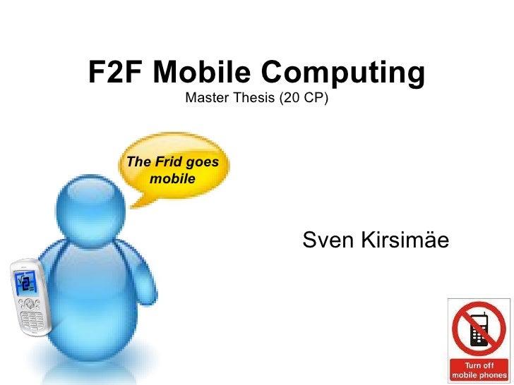 master thesis mobile computing