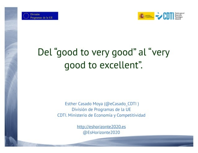 "20160308 Jornada de Instrumento PYME ""from very good to excellent"""