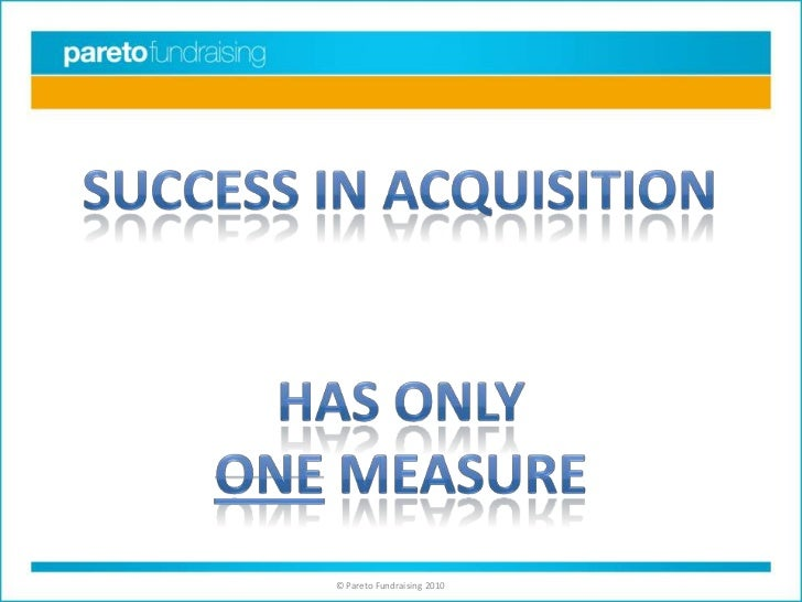 Success in acquisition<br />Has only<br />One measure<br />