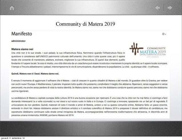 Smart city e Smart Community: caso Matera Slide 3
