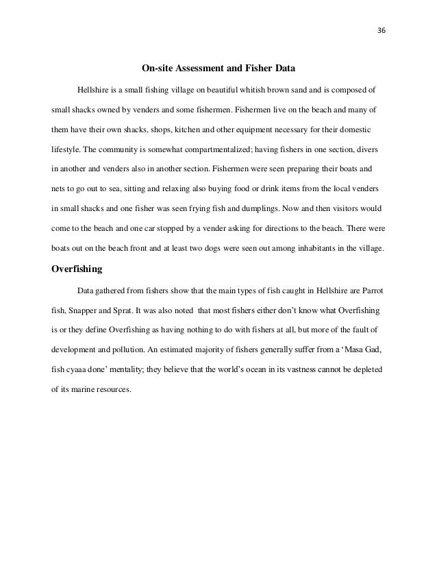 Research Paper on Overfishing in Hellshire Beach Community in Jamaica