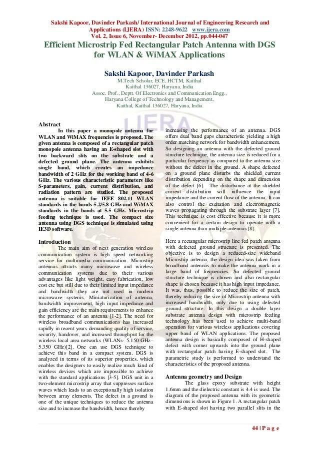 Sakshi Kapoor, Davinder Parkash/ International Journal of Engineering Research and                   Applications (IJERA) ...