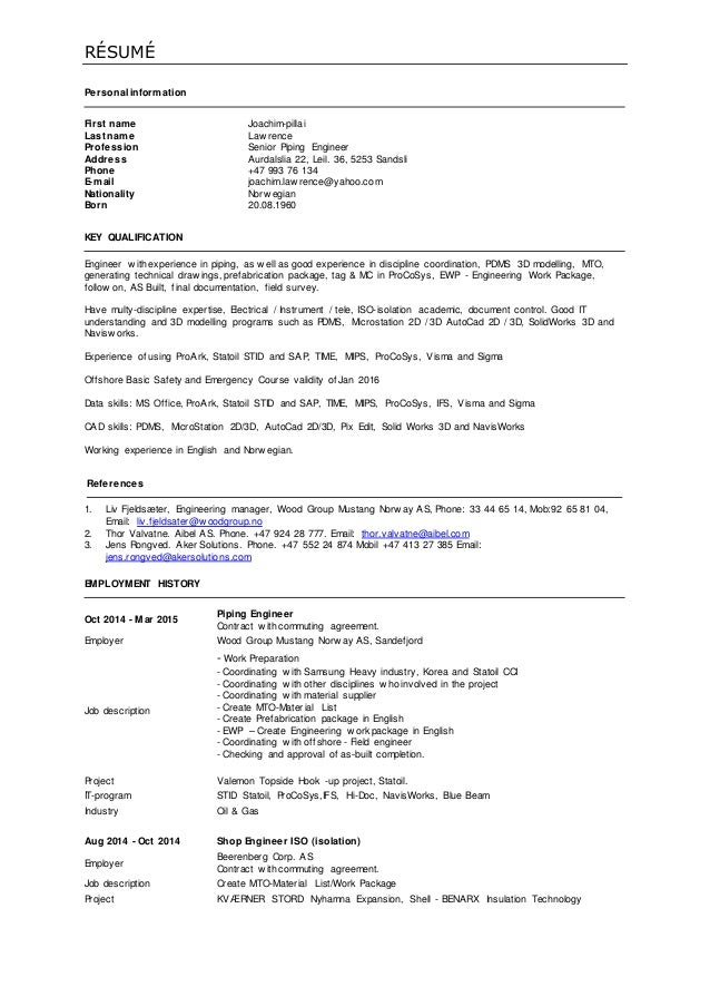 Outstanding Mustang Engineering Resume Adornment - Best Resume ...