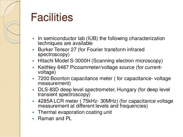 Deep level transient spectroscopy thesis
