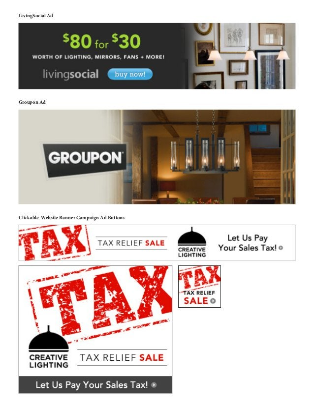 LivingSocial Ad Groupon Ad Clickable Website Banner Campaign Ad Buttons