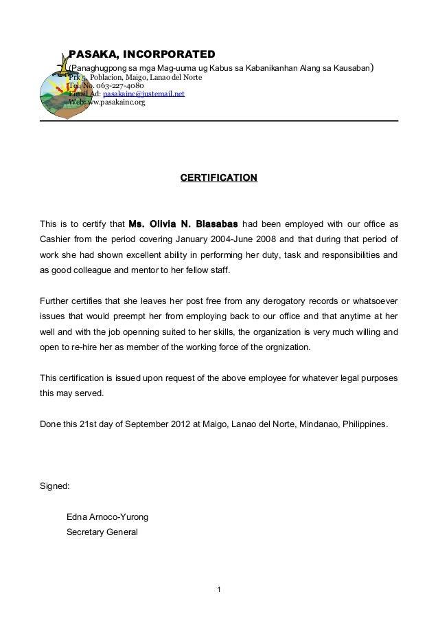 Job Certificate Pasaka Inc