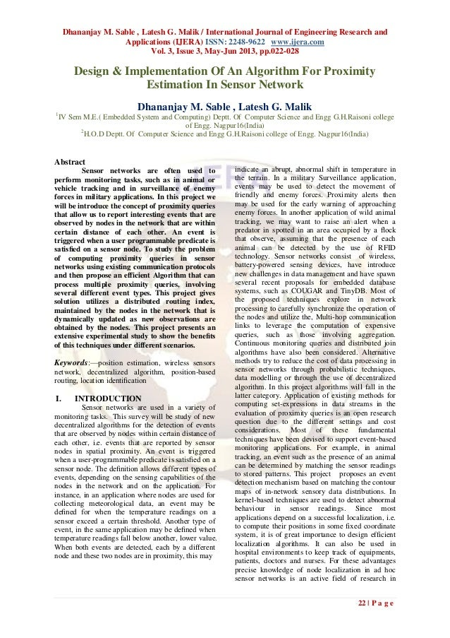 Dhananjay M. Sable , Latesh G. Malik / International Journal of Engineering Research andApplications (IJERA) ISSN: 2248-96...