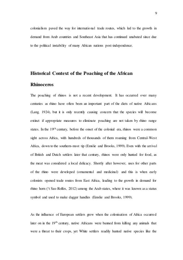 rhino poaching essay