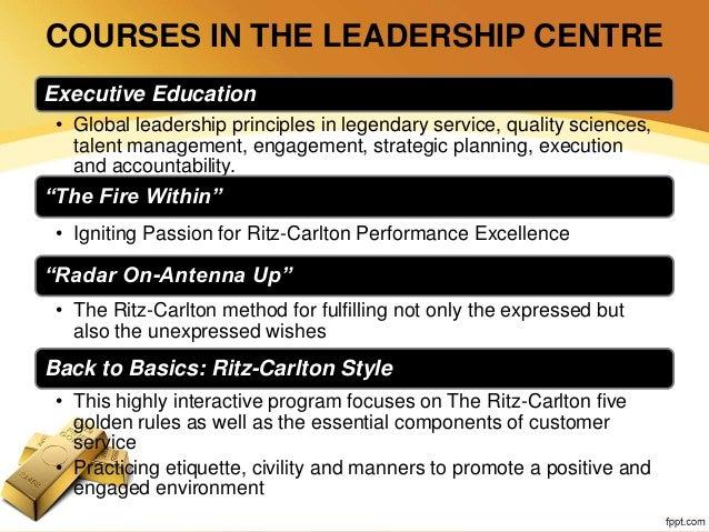 ritz carlton customer service training program