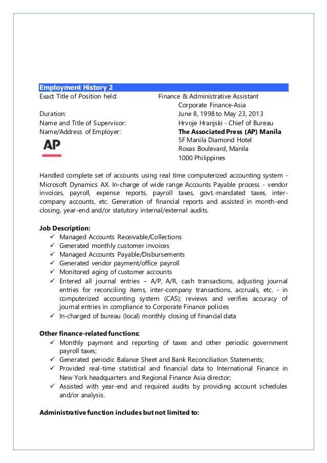Contemporary Govt Resume In Accounts Motif - Resume Ideas - bayaar.info