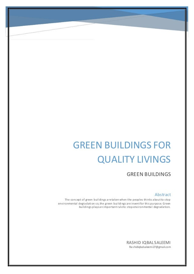 Dissertation green construction