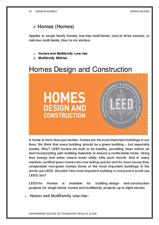 green building technology thesis Green principles and practices building technology – green building design principles promote the reduction in.